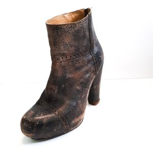 Bed Stu Distressed Leather Platform Boot
